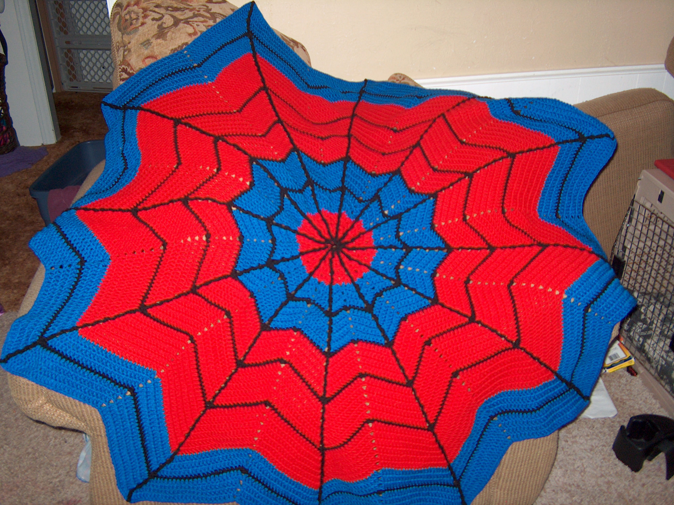 My afghan is finished! – Adventures of Chaos and Mayhem
